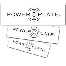 Power Plate Logo Aufkleber